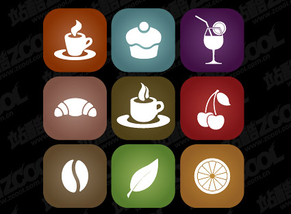 Simple food icon vector material