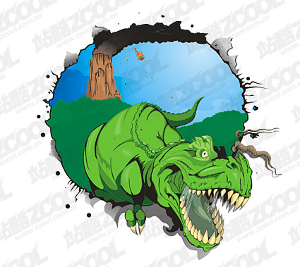 Dinosaur vector material