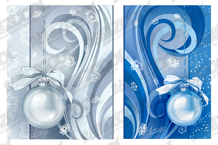 Christmas decoration patterns vector material