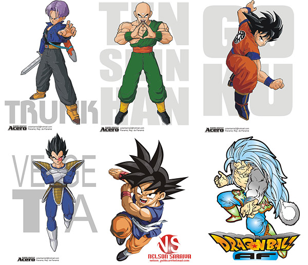 Dragon Ball characters of the vector material