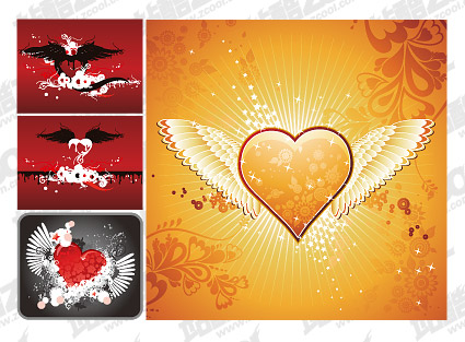 Fly the hearts of vector material