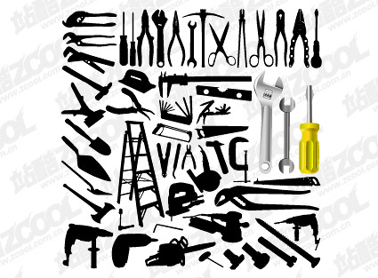Vector material variety of tools in Pictures