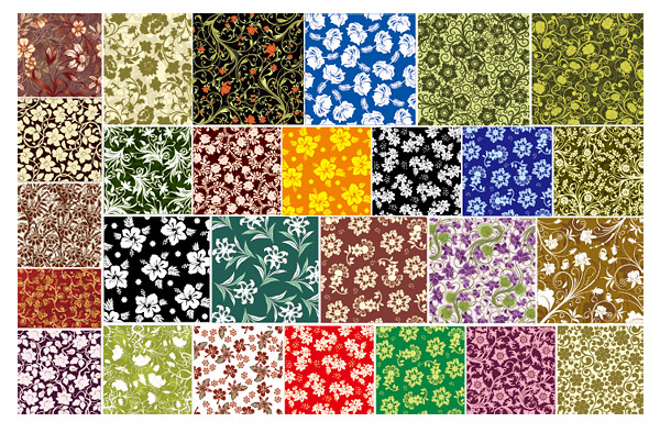 27, vector background material for flowers