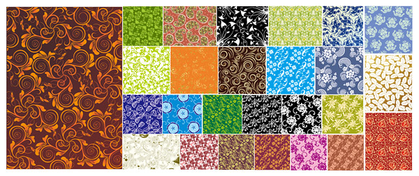 25 practical pattern background material vector