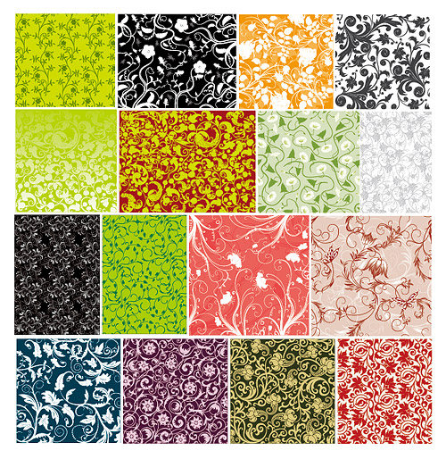 16 practical pattern background material vector