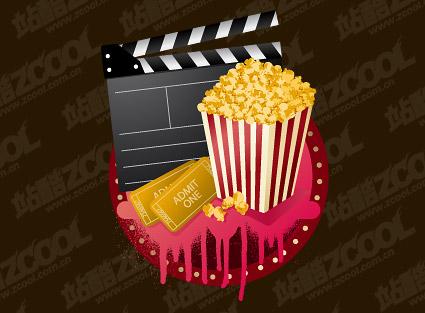 Vector material popcorn