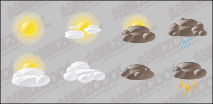 Vector material changes in the weather