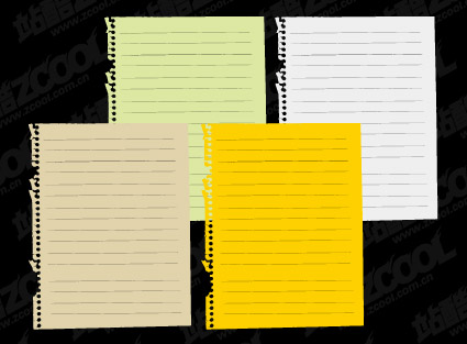 Vector material notebook paper