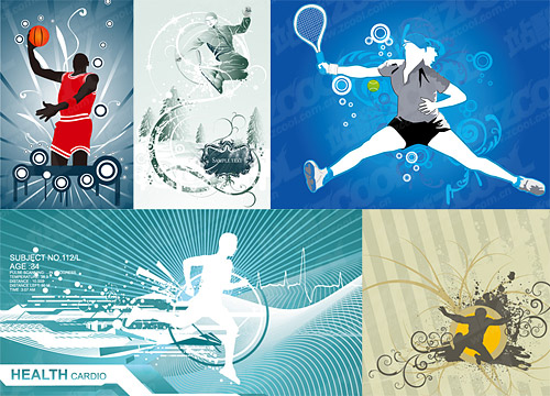 5, vector illustrations campaign material
