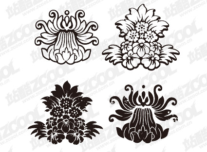 gomedia produced classical pattern vector material