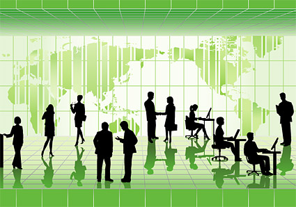 Business People in Pictures vector illustrations material