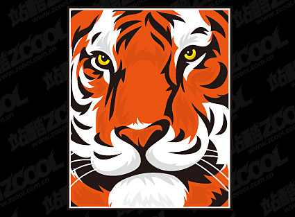 Featured tiger head vector material