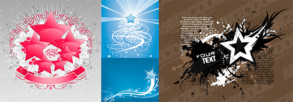 Vector material elements of the theme stars-2