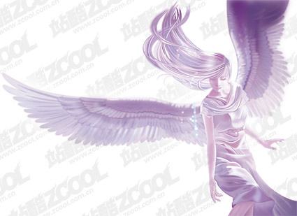 ai Angels vector drawing material