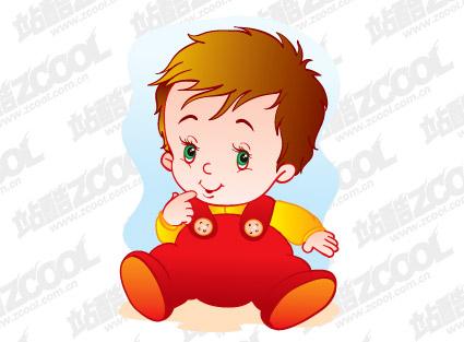 Cute baby vector material-2