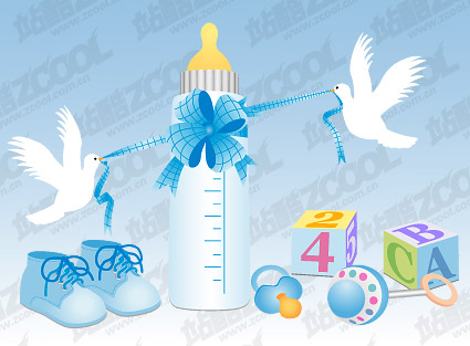 Baby supplies vector material-5