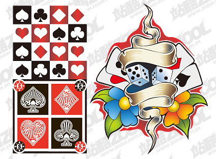 Poker element vector material