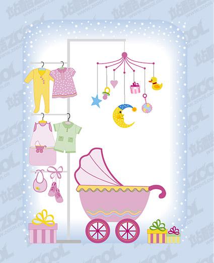 Baby supplies vector material