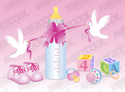 Baby supplies vector material-3