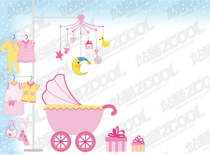 Baby supplies vector material-4