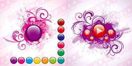 Crystal ball with the pattern vector material