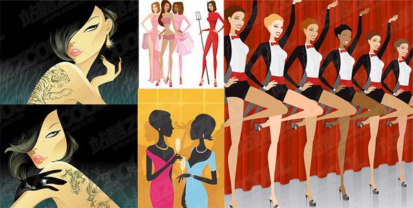 women illustration material