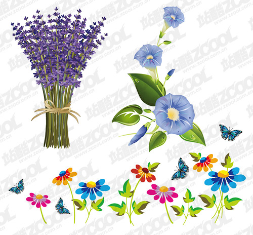 exquisite flowers vector material