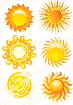 Crystal Sun style icon vector material