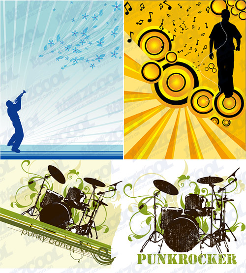 Music theme vector illustration material-1