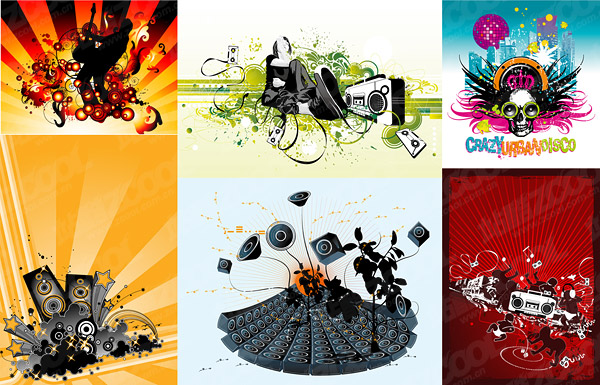 Music theme vector illustration material-2