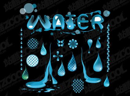 water vector material