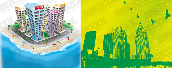 city theme vector