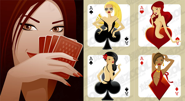 Poker vector material girl
