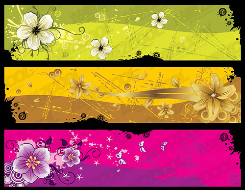 The trend banner banner template vector material-6