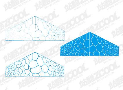 Water Cube vector material