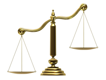 The picture quality material balance scales