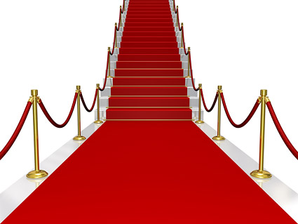 Shop the red carpet the stairs