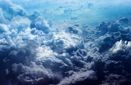 Dense cloud picture material