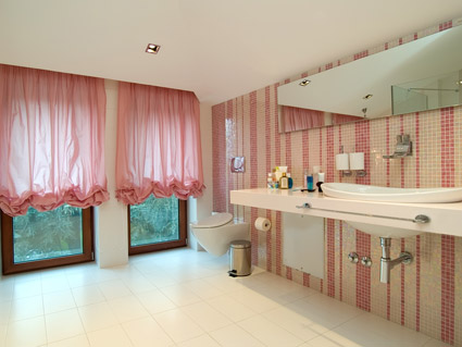 The fashion style pink bathroom picture material