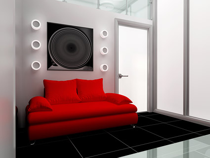 Fashion decorated living room picture material