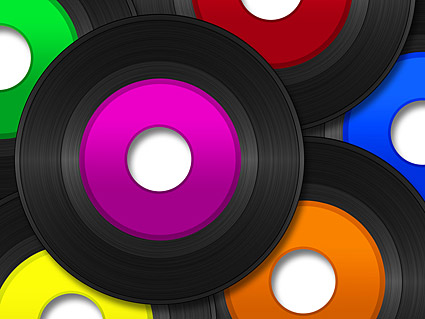 Color picture disc vinyl material