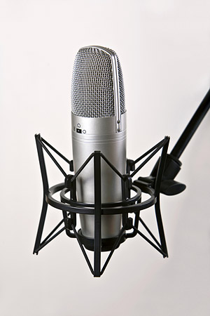 Recording microphone picture material