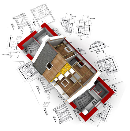 3D buildings and the floor plan -10
