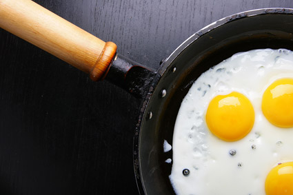 Pan fried egg quality picture material