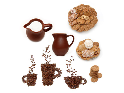 Dessert coffee milk quality picture material