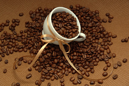 Material picture quality coffee beans