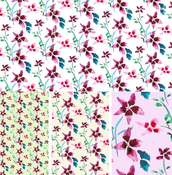 Korean fashion gorgeous patterns series psd layered material-10