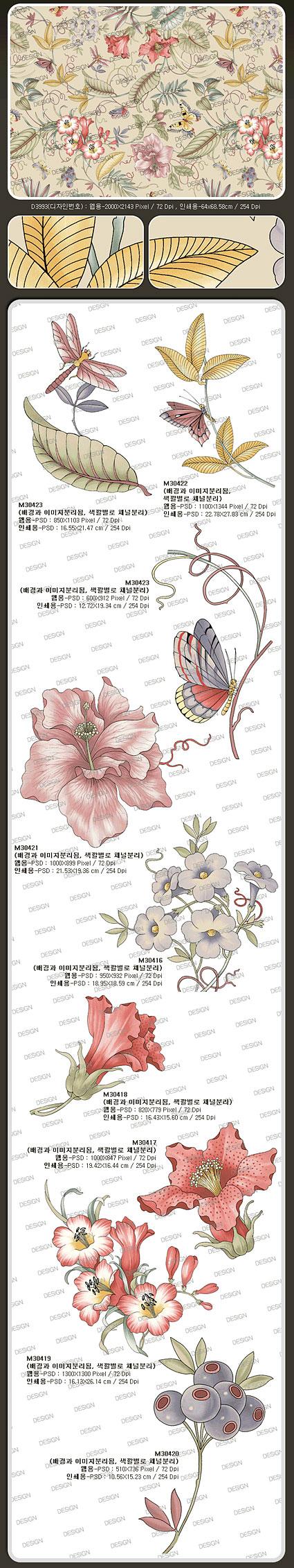 Korean fashion gorgeous patterns series-15