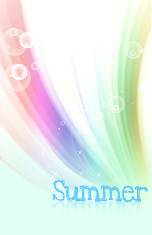 Summer Korean style background material layered psd-3