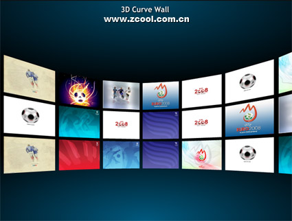 3d picture of cool wall flash + xml document Sources